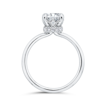 Load image into Gallery viewer, 14K White Gold Round Cut Diamond Classic Engagement Ring (Semi-Mount)