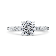 Load image into Gallery viewer, CA0359EH-37W-1.25 Bridal Jewelry Carizza White Gold Round Diamond Engagement Rings