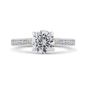 CA0402EH-37WY-1.50 Bridal Jewelry Carizza White Gold Rose Gold Yellow Gold Round Diamond Engagement Rings