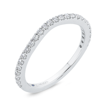 Load image into Gallery viewer, Round Cut Diamond Wedding Band In 14K White Gold