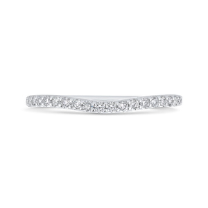 CA0403BQ-37W-1.50 Bridal Jewelry Carizza White Gold Round Diamond Wedding Bands