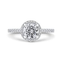 Load image into Gallery viewer, CA0404EH-37W-1.00 Bridal Jewelry Carizza White Gold Round Diamond Halo Engagement Rings