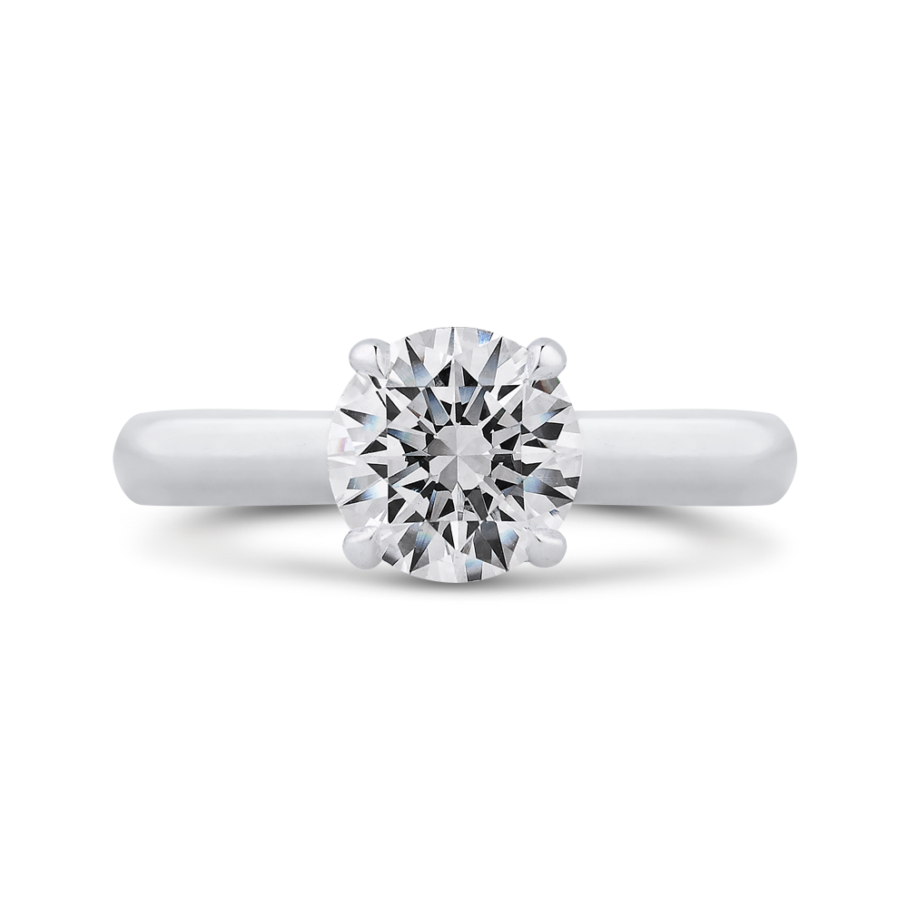 CA0407E-37W-1.50 Bridal Jewelry Carizza White Gold Round Diamond Engagement Rings