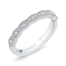 Load image into Gallery viewer, Round Diamond Half Eternity Wedding Band In 14K White Gold