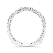 Load image into Gallery viewer, Round Diamond Half Eternity Wedding Band In 14K White Gold with Euro Shank