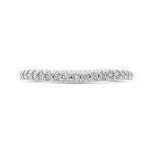 Load image into Gallery viewer, CA0414BH-37W-1.50 Bridal Jewelry Carizza White Gold Round Diamond Wedding Bands