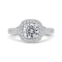 Load image into Gallery viewer, CA0415EH-37W-1.00 Bridal Jewelry Carizza White Gold Round Diamond Halo Engagement Rings