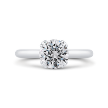 Load image into Gallery viewer, CA0417E-37W-1.50 Bridal Jewelry Carizza White Gold Round Diamond Engagement Rings