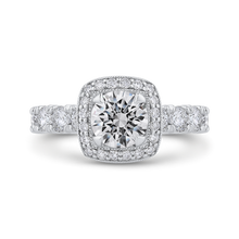 Load image into Gallery viewer, CA0420EH-37W-1.00 Bridal Jewelry Carizza White Gold Round Diamond Halo Engagement Rings