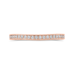 CA0423BQ-37P-1.50 Bridal Jewelry Carizza Rose Gold Round Diamond Wedding Bands