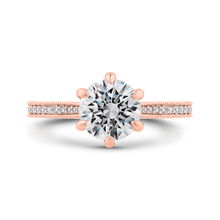 Load image into Gallery viewer, CA0423EQ-37P-1.50 Bridal Jewelry Carizza Rose Gold Round Diamond Engagement Rings
