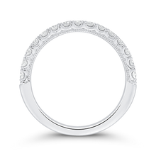 Load image into Gallery viewer, Round Cut Diamond Half Eternity Wedding Band In 14K White Gold