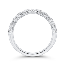 Load image into Gallery viewer, 14K White Gold Half Eternity Round Diamond Wedding Band