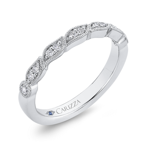 Half Eternity Wedding Band In Round Diamond 14K White Gold