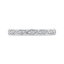Load image into Gallery viewer, CA0439BH-37W-1.00 Bridal Jewelry Carizza White Gold Round Diamond Wedding Bands