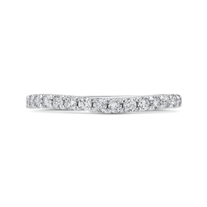 CA0448BH-37W-1.00 Bridal Jewelry Carizza White Gold Round Diamond Wedding Bands