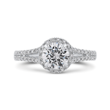 Load image into Gallery viewer, CA0448EH-37W-1.00 Bridal Jewelry Carizza White Gold Round Diamond Halo Engagement Rings