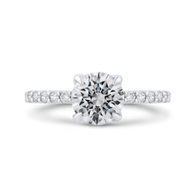 Load image into Gallery viewer, CA0449EH-37W-1.50 Bridal Jewelry Carizza White Gold Round Diamond Engagement Rings