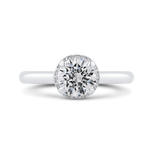 Load image into Gallery viewer, CA0451E-37W-1.00 Bridal Jewelry Carizza White Gold Round Diamond Engagement Rings
