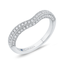 Load image into Gallery viewer, Round Half Eternity Diamond Wedding Band In 14K White Gold