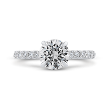 Load image into Gallery viewer, CA0464EH-37W-1.50 Bridal Jewelry Carizza White Gold Round Diamond Engagement Rings