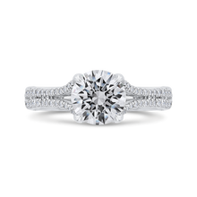 Load image into Gallery viewer, CA0471EH-37W-1.50 Bridal Jewelry Carizza White Gold Round Diamond Halo Engagement Rings