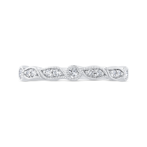 CA0474BH-37W-1.00 Bridal Jewelry Carizza White Gold Diamond Wedding Bands