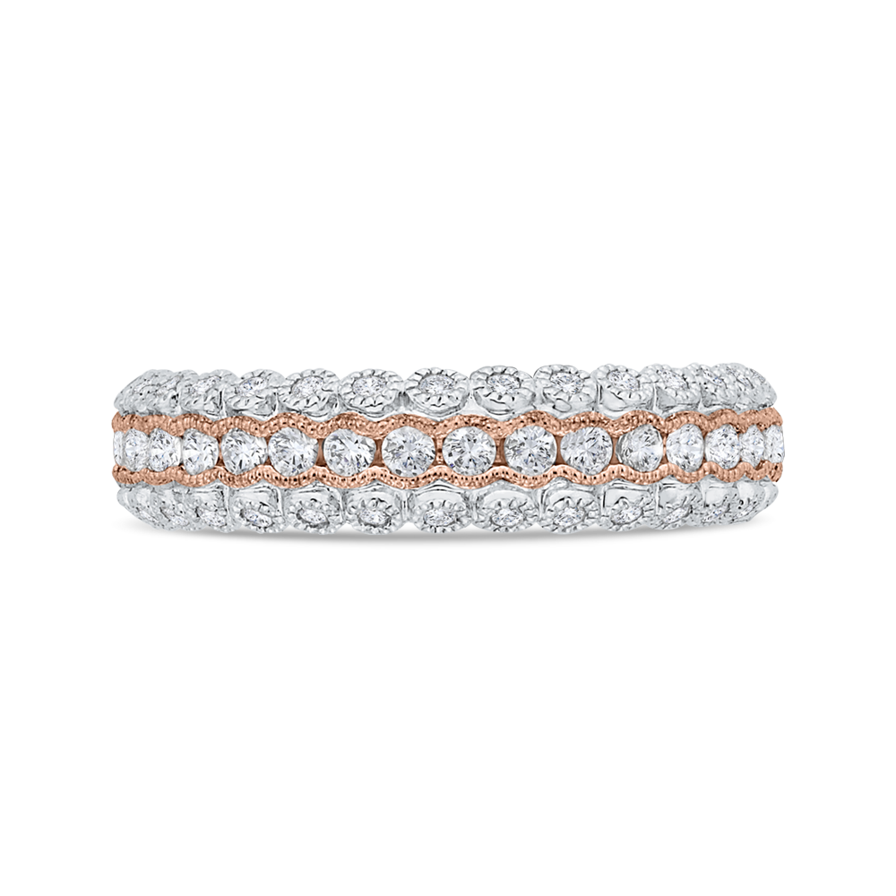 CA0475BH-37WP-1.50 Bridal Jewelry Carizza White Gold,Rose Gold Diamond Wedding Bands