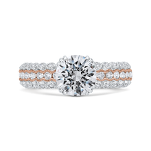 Load image into Gallery viewer, CA0475EH-37WP-1.50 Bridal Jewelry Carizza White Gold,Rose Gold Round Diamond Engagement Rings