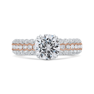 CA0475EH-37WP-1.50 Bridal Jewelry Carizza White Gold,Rose Gold Round Diamond Engagement Rings