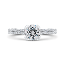 Load image into Gallery viewer, CA0480EH-37W-1.00 Bridal Jewelry Carizza White Gold Round Diamond Engagement Rings