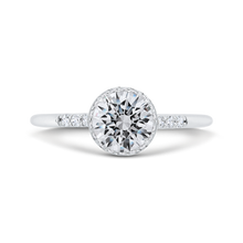Load image into Gallery viewer, CA0485E-37W-1.00 Bridal Jewelry Carizza White Gold Round Diamond Engagement Rings