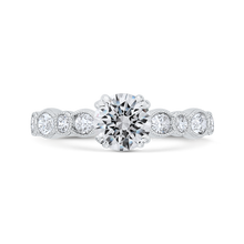 Load image into Gallery viewer, CA0493EH-37W-1.00 Bridal Jewelry Carizza White Gold Round Diamond Engagement Rings