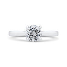 Load image into Gallery viewer, CA0498E-37W-1.00 Bridal Jewelry Carizza White Gold Round Diamond Engagement Rings