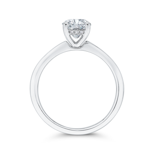 14K White Gold Diamond Engagement Ring with Plain Shank (Semi-Mount)
