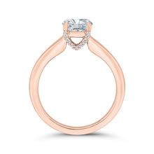 Load image into Gallery viewer, 14K Rose Gold Diamond Engagement Ring (Semi-Mount)