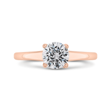 Load image into Gallery viewer, CA0501E-37P-1.00 Bridal Jewelry Carizza Rose Gold Round Diamond Engagement Rings