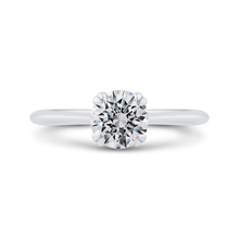 Load image into Gallery viewer, CA0502E-W-1.00 Bridal Jewelry Carizza White Gold Round Solitaire Engagement Rings