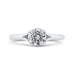 CA0503E-W-1.00 Bridal Jewelry Carizza White Gold Round Solitaire Engagement Rings