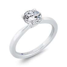Load image into Gallery viewer, 14K White Gold Solitaire Engagement Ring (Semi-Mount)