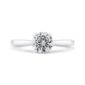 CA0505E-W-1.00 Bridal Jewelry Carizza White Gold Round Solitaire Engagement Rings