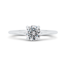 Load image into Gallery viewer, CA0510E-37W-1.00 Bridal Jewelry Carizza White Gold Round Diamond Engagement Rings