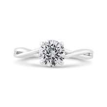 Load image into Gallery viewer, CA0511E-W-1.00 Bridal Jewelry Carizza White Gold Round Solitaire Engagement Rings