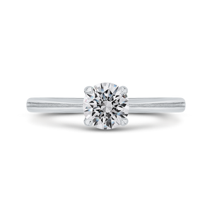 CA0512E-W-1.00 Bridal Jewelry Carizza White Gold Round Solitaire Engagement Rings
