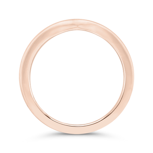 14K Rose Gold Plain Wedding Band