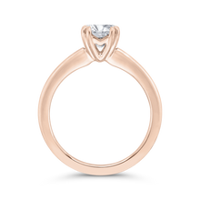Load image into Gallery viewer, 14K Rose Gold Solitaire Engagement Ring (Semi-Mount)