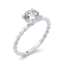 Load image into Gallery viewer, 14K White Gold Diamond Engagement Ring (Semi-Mount)