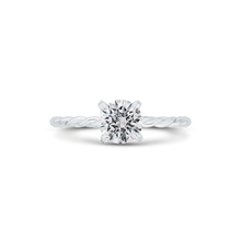 Load image into Gallery viewer, CA0514E-37W-1.00 Bridal Jewelry Carizza White Gold Round Diamond Engagement Rings