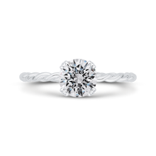 Load image into Gallery viewer, CA0515E-W-1.00 Bridal Jewelry Carizza White Gold Round Solitaire Engagement Rings