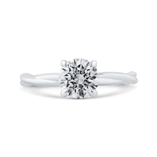Load image into Gallery viewer, CA0516E-W-1.00 Bridal Jewelry Carizza White Gold Round Solitaire Engagement Rings